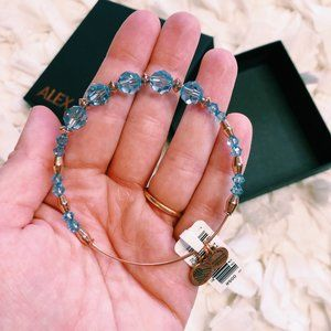 NWT Alex & Ani Swarovski Blue Beaded Bracelet